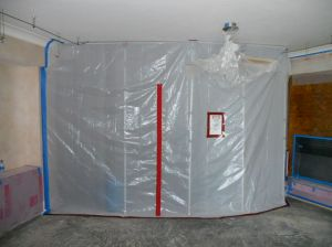 A containment during mold remediation