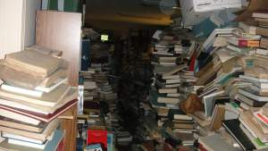 "Hoarder's ""library"""