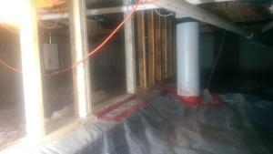 Vapor barrier in Hardin crawl space